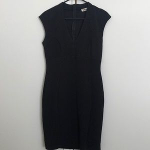 Fitted black cocktail dress